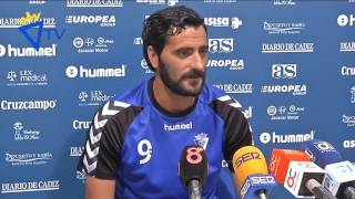 Rueda de prensa de Dani Güiza en previa Hércules-Cádiz (24-06-16)