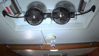 Review, Test and DIY project to install two Narva 12 volt fans into Off Road Caravan RV for Camping