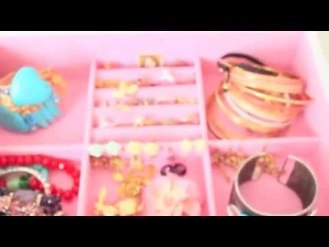 ASMR Jewelry Armoire Tour - Whispering - Rummaging - Trinket Sounds