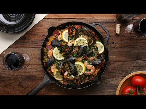 How To Make An Incredible Paella In Your Cast-Iron Skillet • Tasty