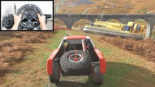 Forza Horizon 4 Toyota Baja Truck vs Hovercraft (Steering Wheel + Shifter) Showcase Event Gameplay
