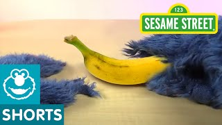 Sesame Street: Unboxing a Banana with Cookie Monster