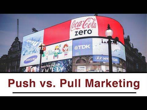 Unterschied zwischen Push und Pull Marketing