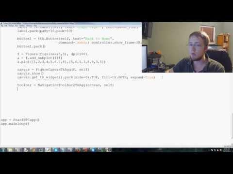 How To Add A Matplotlib Graph To Tkinter Window In Python 3 - Tkinter Tutorial Python 3.4 P. 6