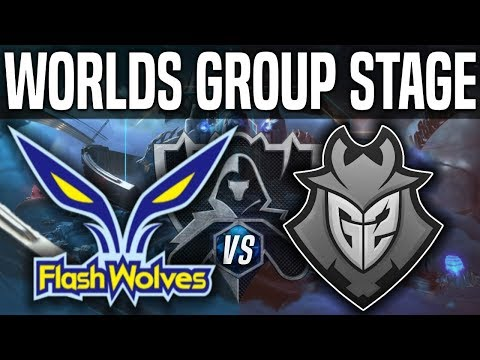 FW Vs G2 - Worlds 2018 Group Stage Day 6 - Flash Wolves Vs G2 Esports Worlds 2018 Group Stage Day 6