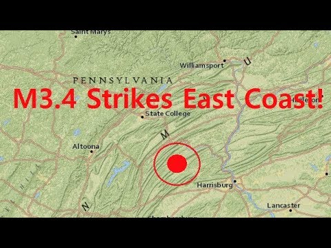 Pennsylvania Shakes W/ Deep M3.4 And Aftershock - Is Seismic Activity Increasing?