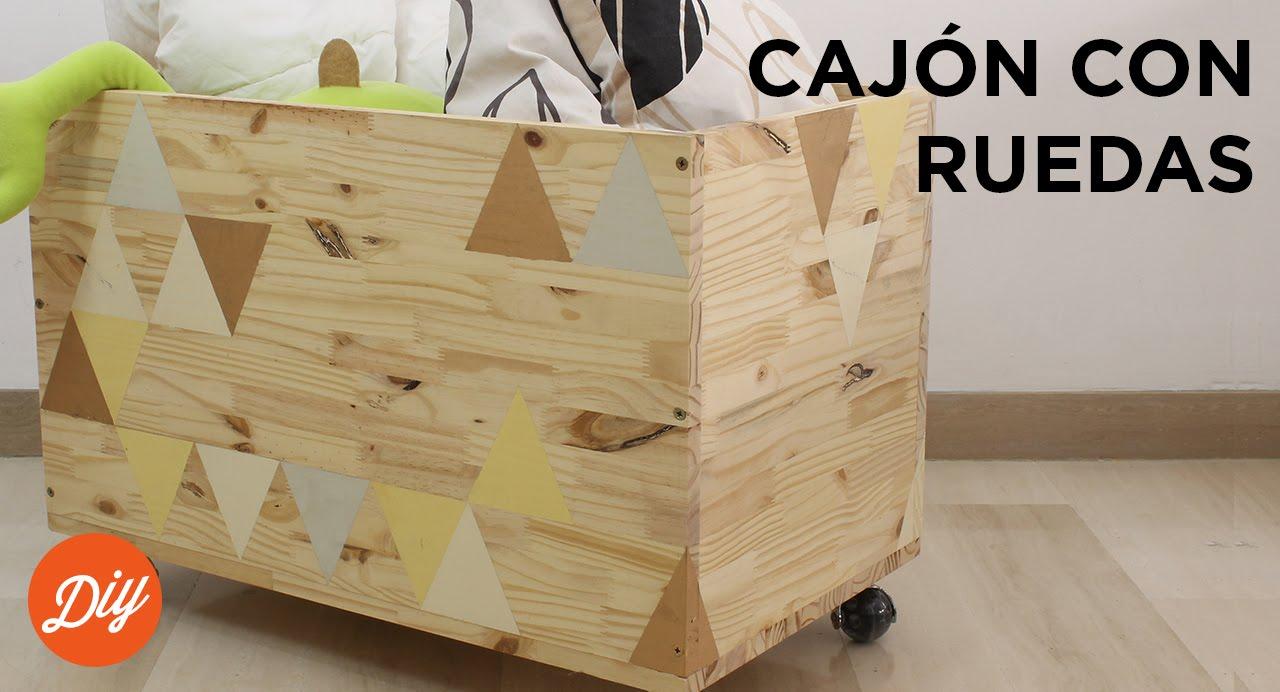 Idea diy crea un caj n con ruedas con black decker youtube - Cajones guarda juguetes ...