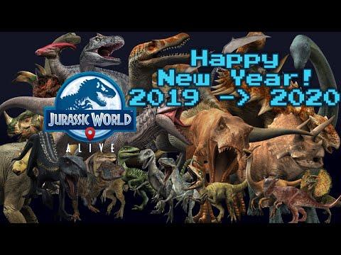 HAPPY NEW YEAR!  -  Jurassic World Alive   Midnight Boss Strike