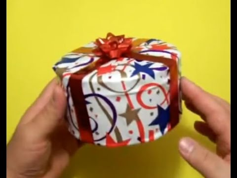HOW TO WRAP A CIRCULAR GIFT ?