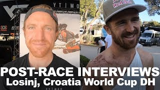 Post-Race Rider Interviews - Losinj, Croatia World Cup DH