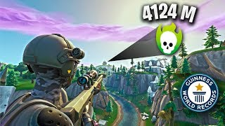 4124 M SNIPER KILL ! Record Mondial (Fortnite Meilleurs Moments FR #26)