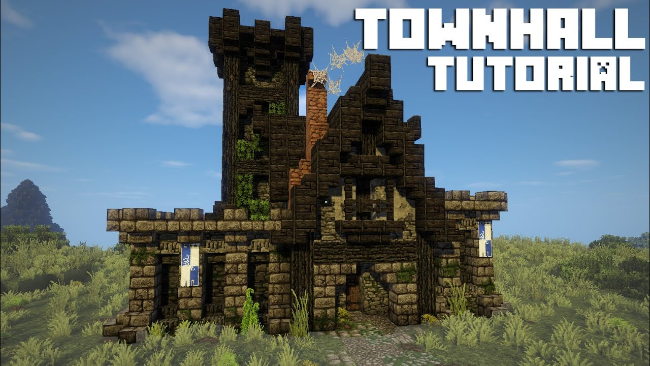 Minecraft TUTORIAL - Town Hall / Town Centre [ + Download ] - YouTube