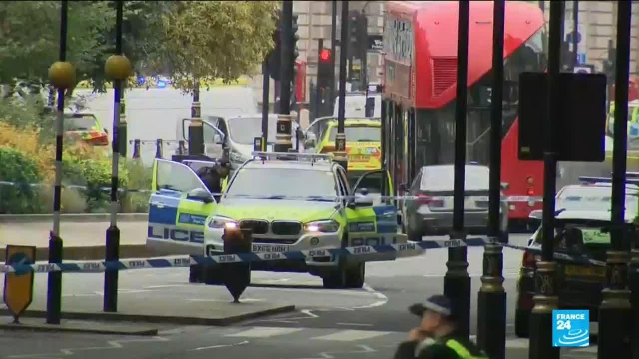 فرانس 24:Driver arrested for terrorism offences after incident outside UK parliament