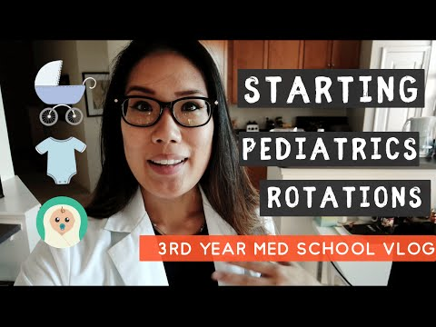 Starting My Pediatrics Rotation in Medical School | 3rd Year Medical School Student VLOG