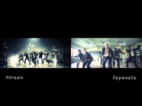 [MV Comparison JPN vs KR] Boy in Luv 상남자 - BTS Bangtan Boys (방탄소년단)