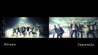 Download lagu [MV Comparison JPN vs KR] Boy in Luv 상남자 - BTS Bangtan Boys (방탄소년단)