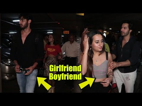 Varun Dhawan & GirlFriend Natasha Dalal | Ahan Shetty & Girlfriend Tania Shroff SPOTTED AT AIRPORT