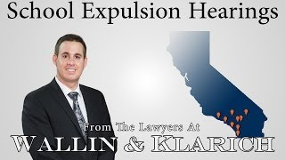 California School Expulsion Hearings