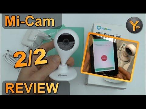 Installation & Funktionen: miSafes Mi-Cam HD / Wireless 720p WiFi HD Kamera  / WLAN / Audio