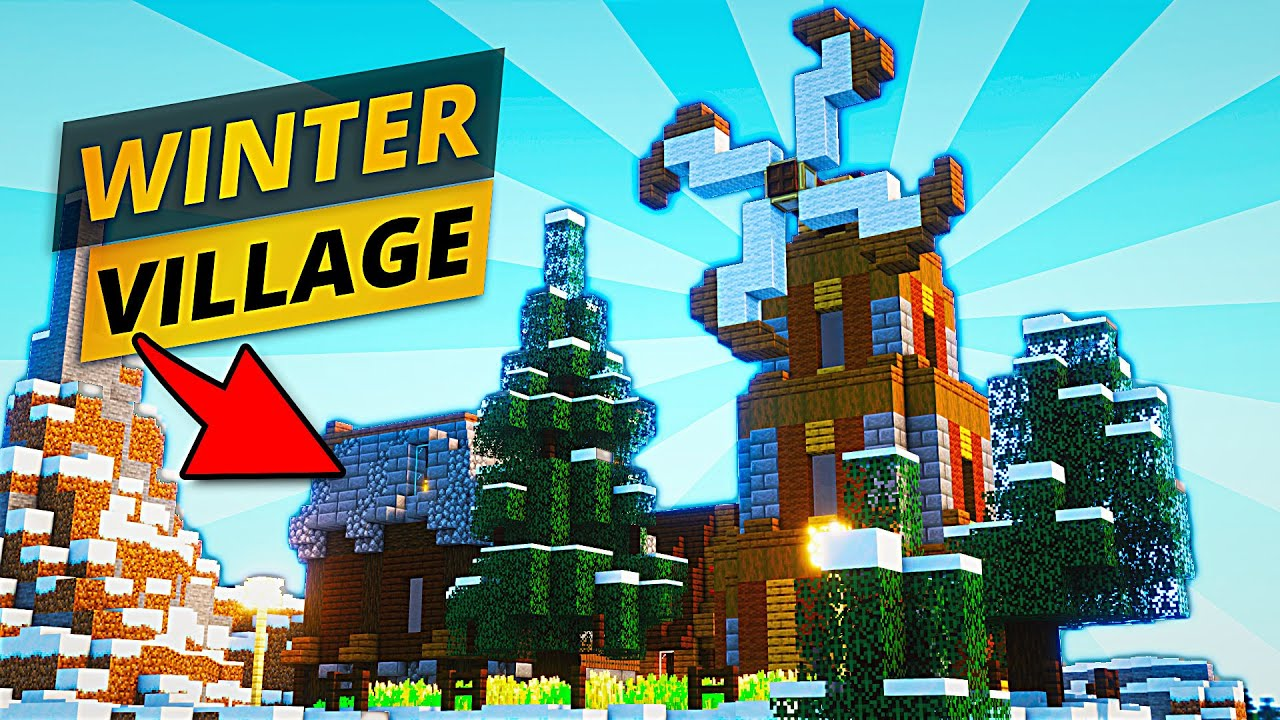 Minecraft Winter Village | Timelapse