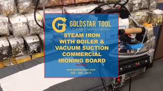 Steam Iron With Boiler & Vacuum Suction Commercial Ironing Board