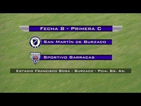 Fecha 8: San Martín de Burzaco vs. Sp. Barracas - EN VIVO
