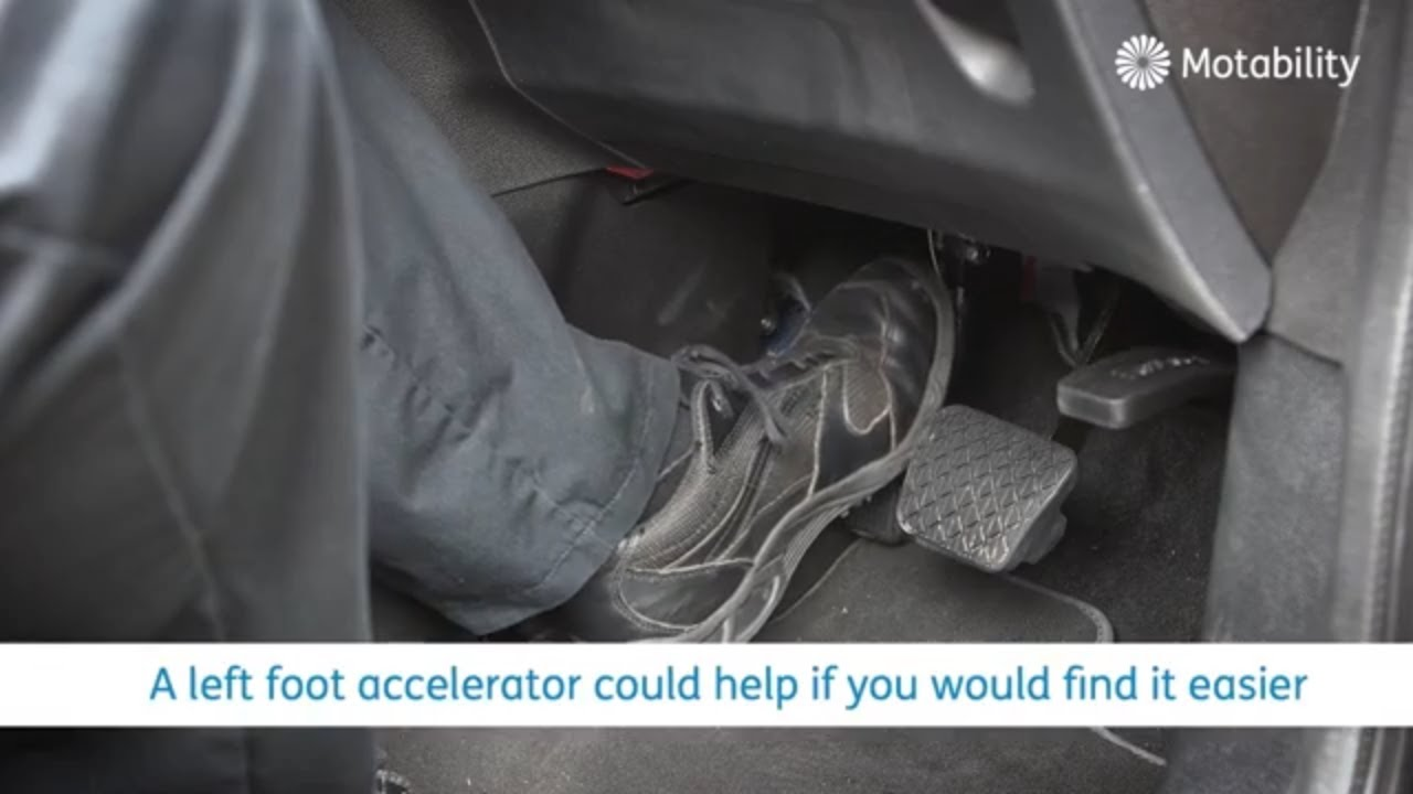 Motability Scheme adaptations - Left foot accelerator