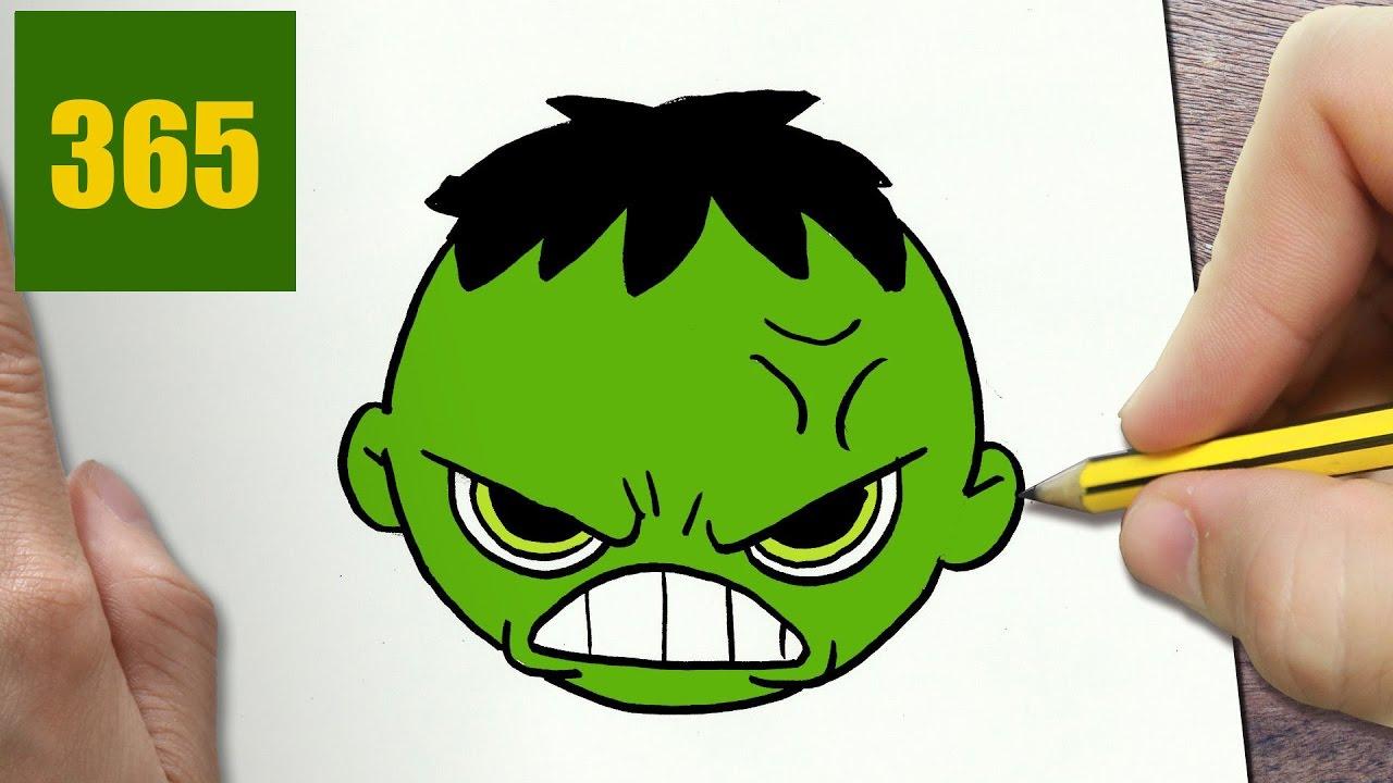 Come Disegnare Hulk Logo Kawaii Passo Dopo Passo Disegni Kawaii