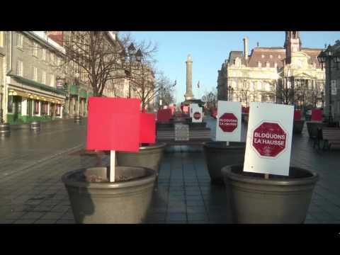 Urbanisme UQAM La Presse vidéo Montréal Mercredi 21 Mars 2012