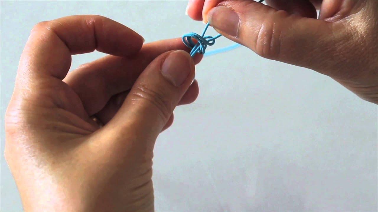 Top Atelier Création Bijoux 1 : Noeud coulissant pour bracelet - YouTube YG17