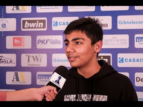 Round 9 Gibraltar Chess post-game interview with  Prithu Gupta