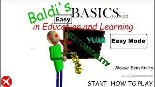 THIS IS EASY! - Baldi's Basics In Education and Learning Easy Mode! (complete)