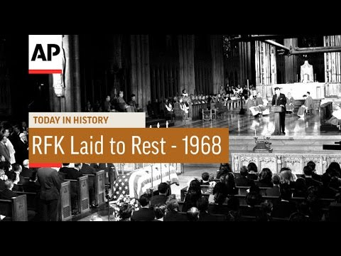 Robert Kennedy Buried - 1968  | Today in History | 8 June 16
