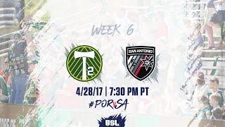 USL LIVE - Portland Timbers 2 vs San Antonio FC 4/28/17 thumbnail