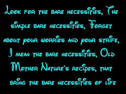 Bare Necessities (Reprise) - The Jungle Book Lyrics HD