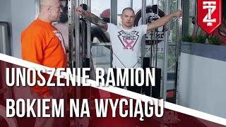 Unoszenie ramion bokiem na wyciągu - BARKI ĆWICZENIA | Podstawy dla początkujących | M.Karmowski