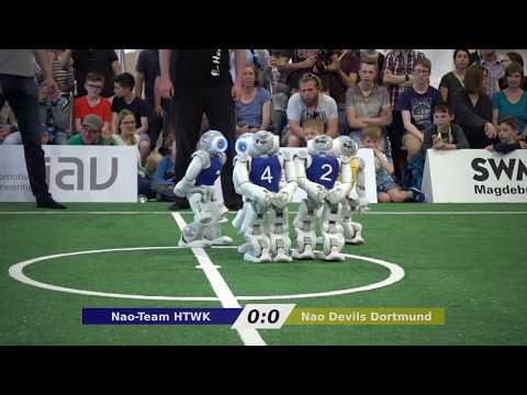 Nao-Team HTWK vs. Nao Devils - Final RoboCup German Open 2018
