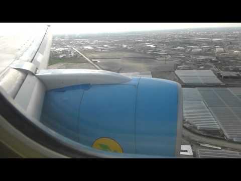Landing at Bukhara in an Uzbekistan Airways B757
