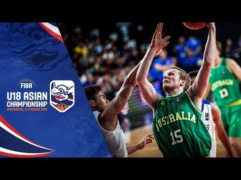 Australia def. Batang Gilas, 77-43 (REPLAY VIDEO) 2018 FIBA Asia U18 Semifinals