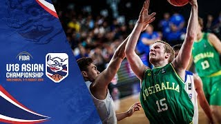 Philippines v Australia - Full Game - Semi-Finals - FIBA U18 Asian Championship 2018