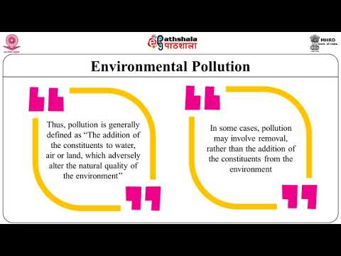 Environmental degradation: policies and programme