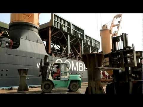 M/V Palau loading mining equipment