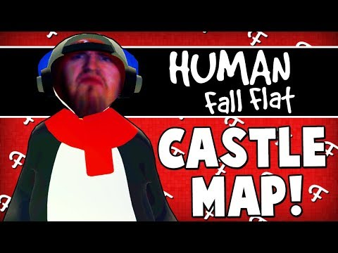 Human Fall Flat: Castle Map, Weird Poses, Emperor Dark Penguin, Game Glitch (Online - Comedy Gaming)