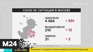 В Москве коронавирус выявили почти у 4 тысяч пациентов - Москва 24