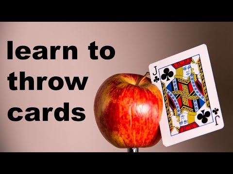 This Week I Learned to Throw Cards