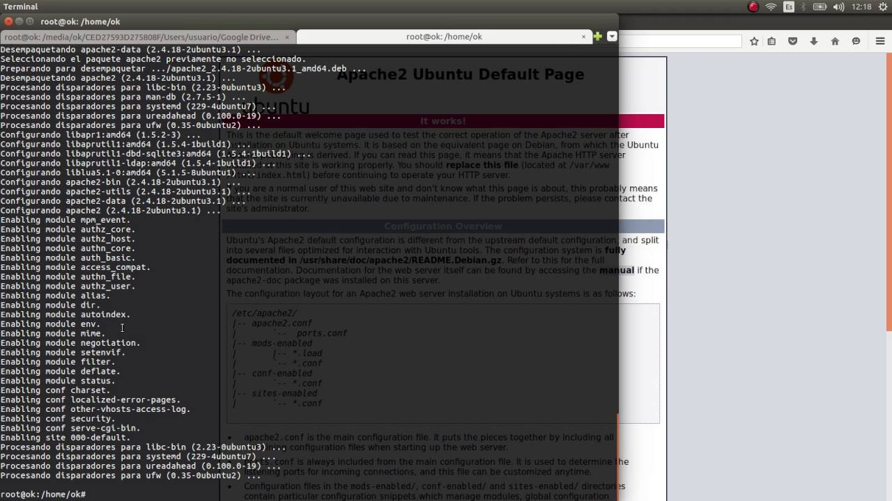 como instalar php 7. mariadb y apache2 (LAMP) en ubuntu 16.04 LTS (Apache Mariadb Php 7) - YouTube