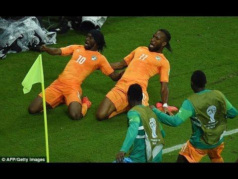 Cote d'Ivoire 2-1 Japan World Cup Brazil 2014 (14/06/14)