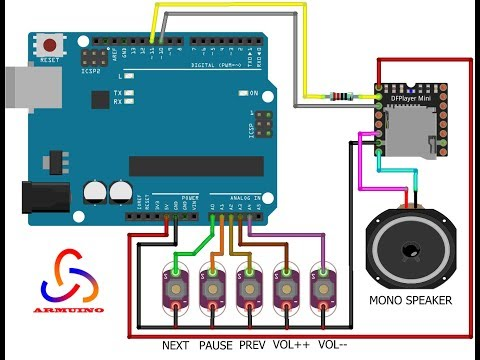 DIY - Arduino MP3 Player with Control Buttons