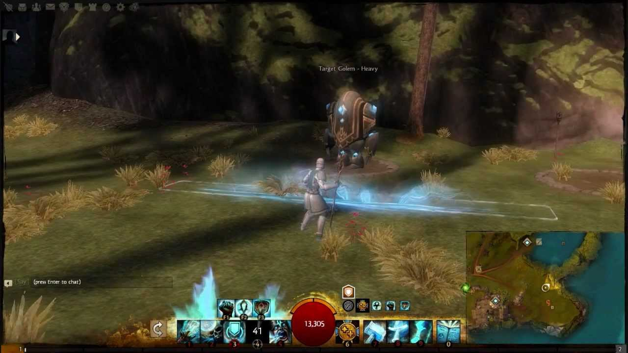 Guild Wars 2 Beta: Guardian Staff Skills