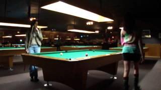 Female Pool Shark Pool Hustler Billiards Champ Pool Hall Pool Room